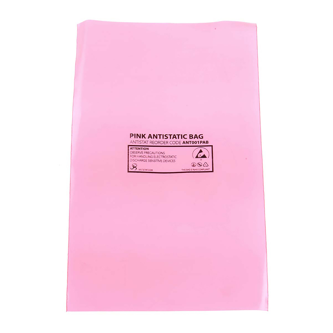 Antistatic pink bag,75x125mm - 100 Pack