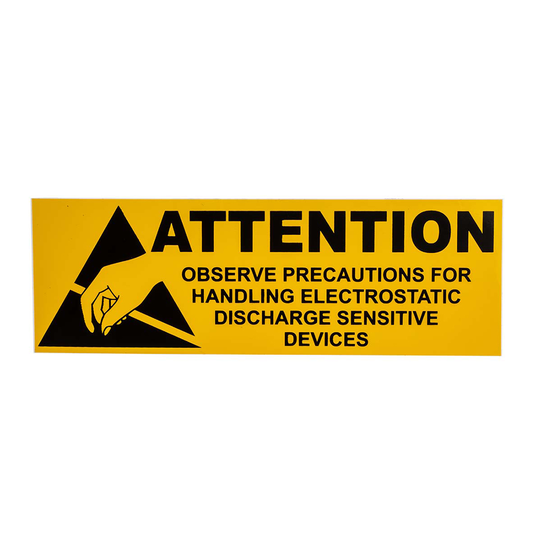 RS PRO Yellow Vinyl ESD Label, Attention-Text 100 mm x 50mm
