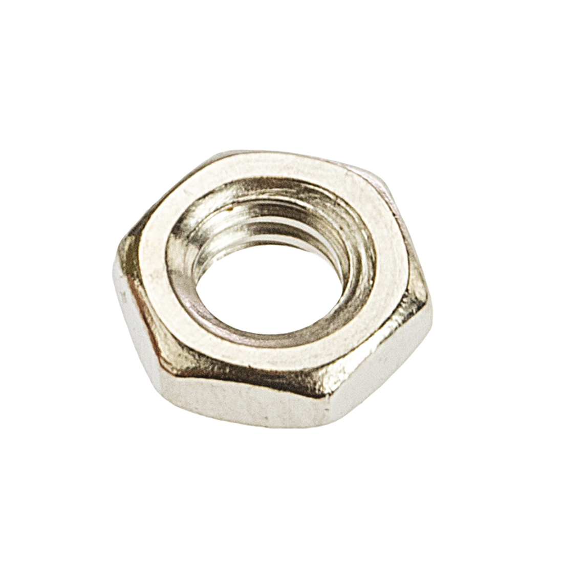 RS PRO Brass Half Hex Nut, Nickel Plated, M4 - 250 Pack
