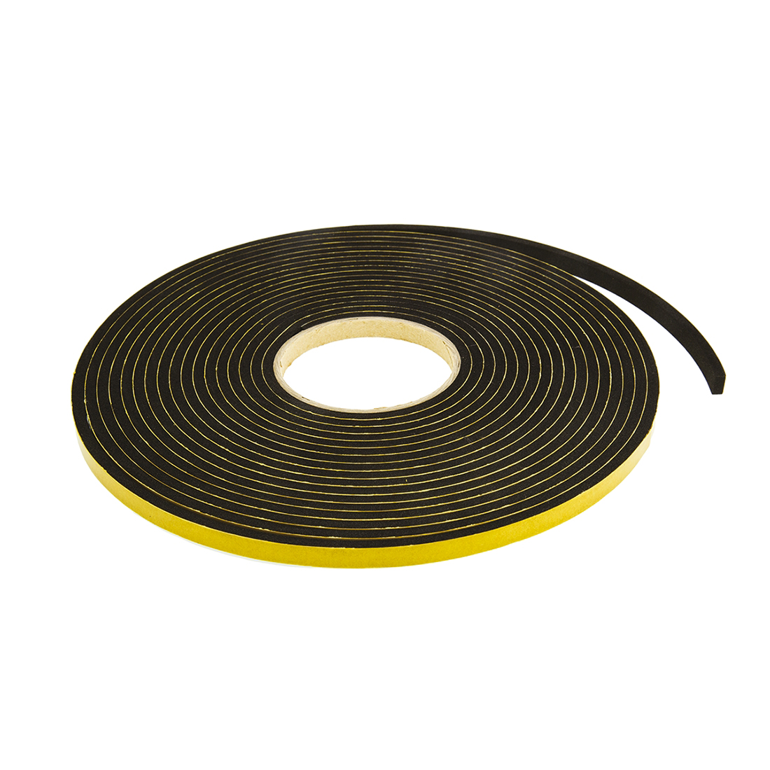RS PRO Black Foam Tape, 10mm x 10m, 5mm Thick - 10 Pack