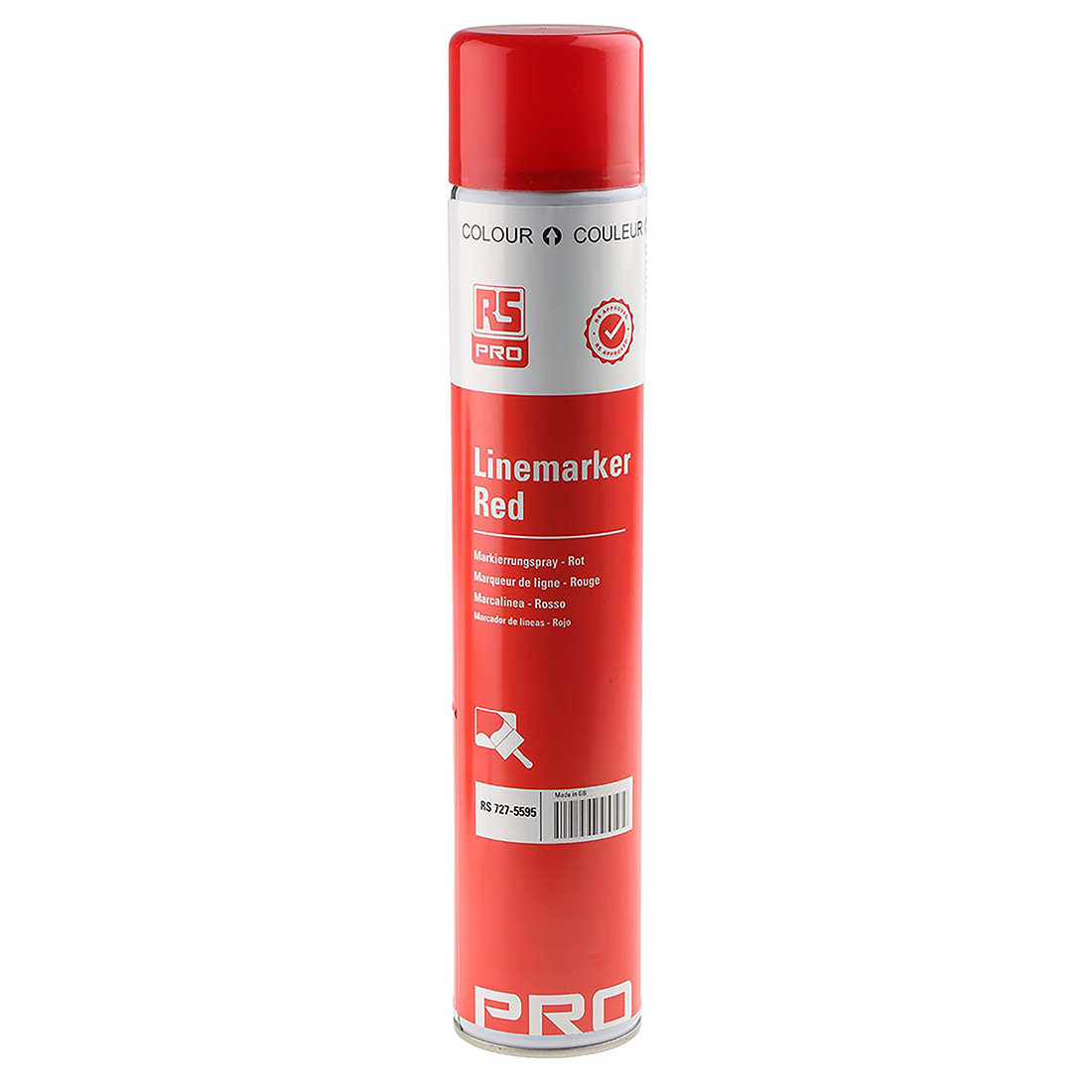RS PRO 750ml Red Line Marker Spray