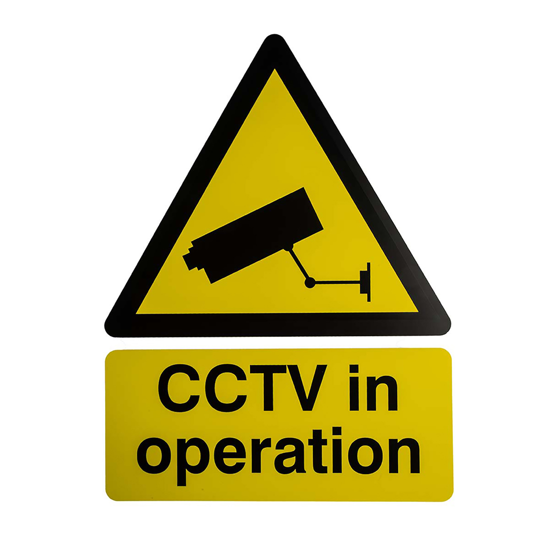 RS PRO White PP CCTV Sign, CCTV in Operation, English, CCTV, 300 mm x 400mm