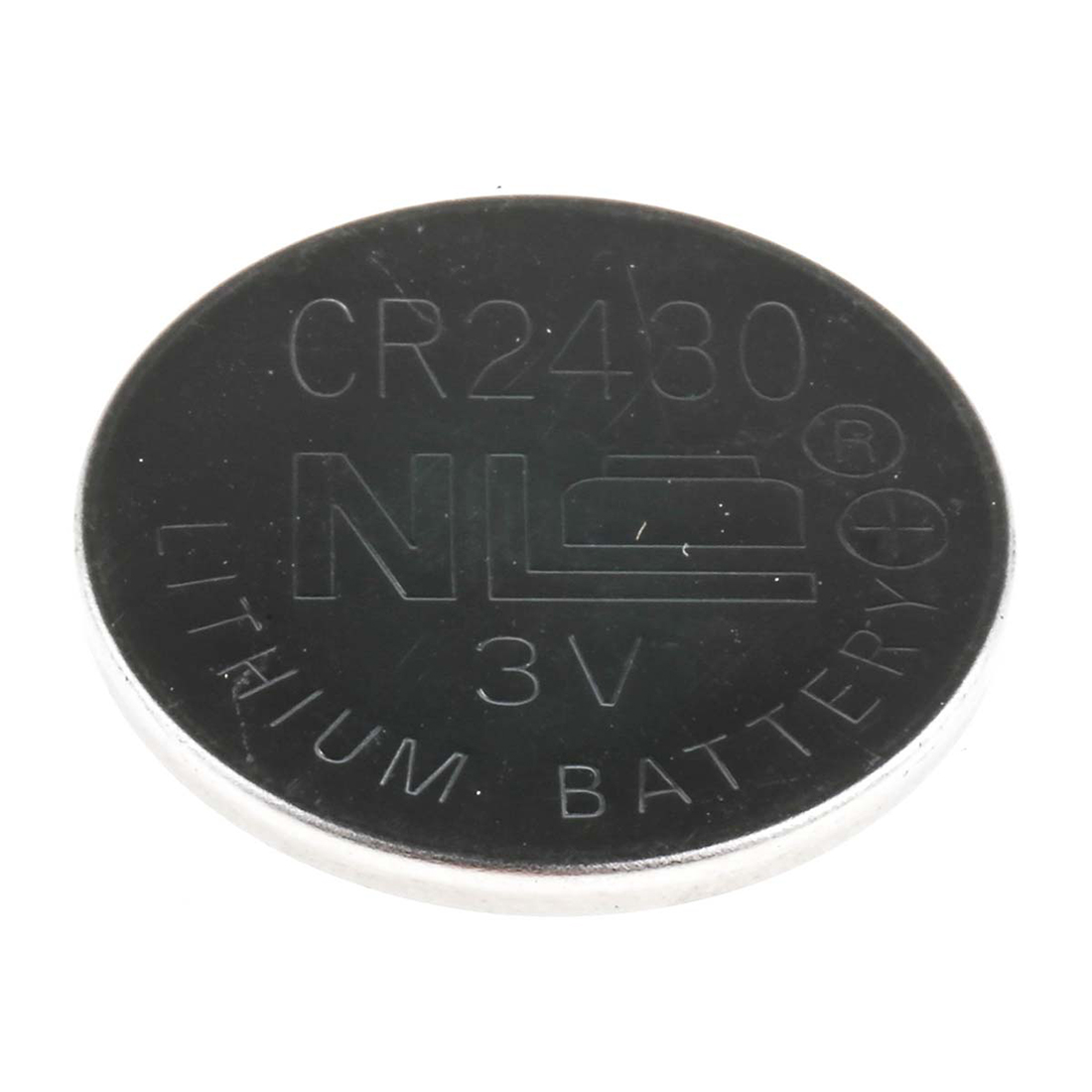 RS PRO CR2430 Button Battery, 3V, 24.5mm Diameter - Pack of 5