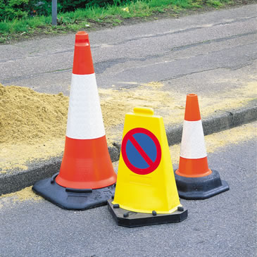 Road Cones and Lamps