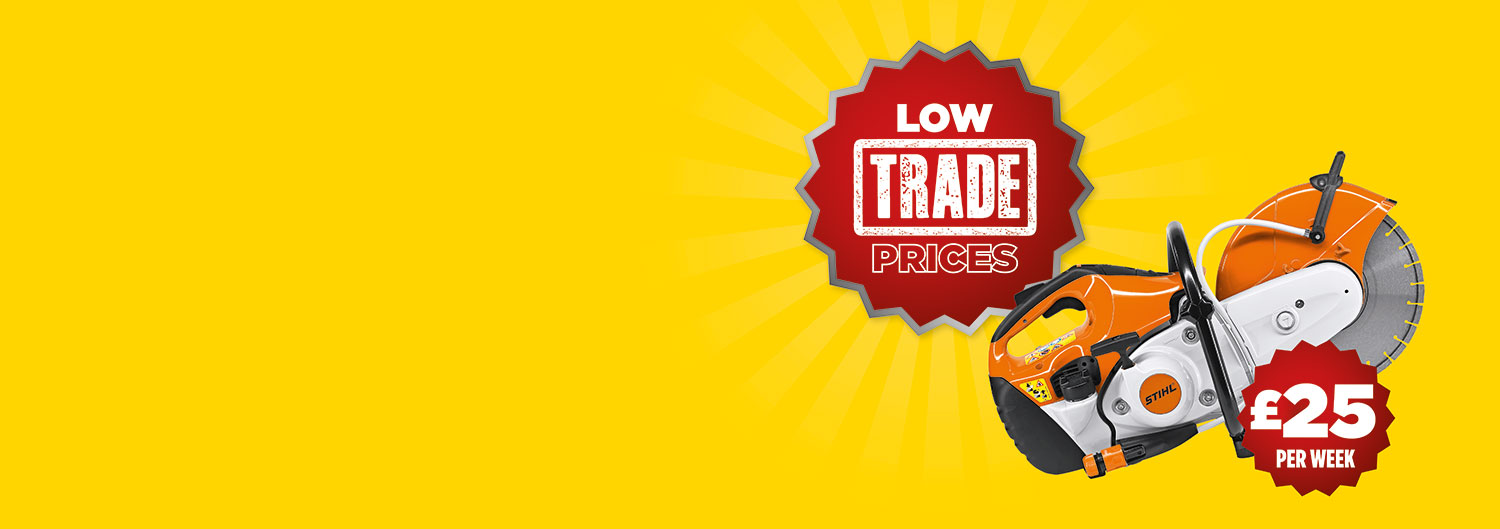 Low trade prices across our tool hire range