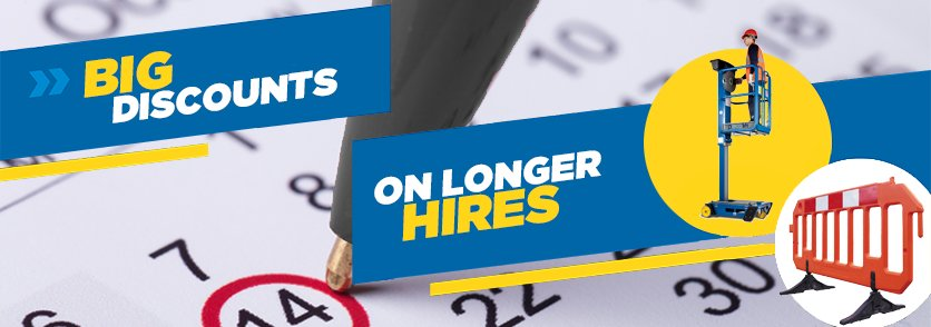 Further discounts on long term tool hires