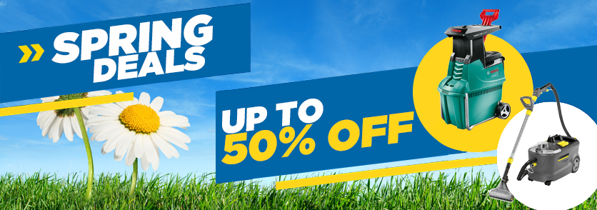 Spring savings on tool hire equipment