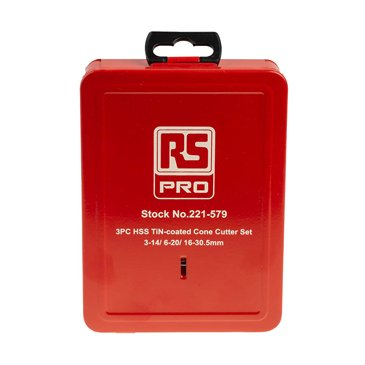 RS PRO 3 piece Metal Step Drill Bit Set, 3mm to 30in