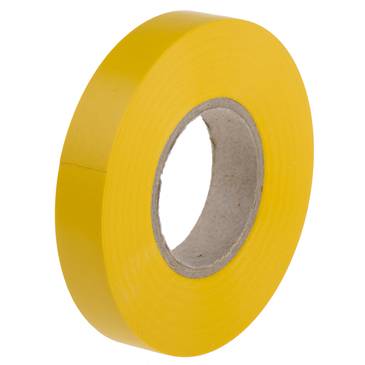 RS PRO Yellow PVC Electrical Tape, 12mm x 20m