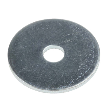 Bright Zinc Plated Steel Mudguard Washer, M5 x 25mm, 1.5mm Thickness