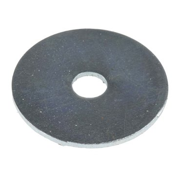 Bright Zinc Plated Steel Mudguard Washer, M6 x 30mm, 1.5mm Thickness