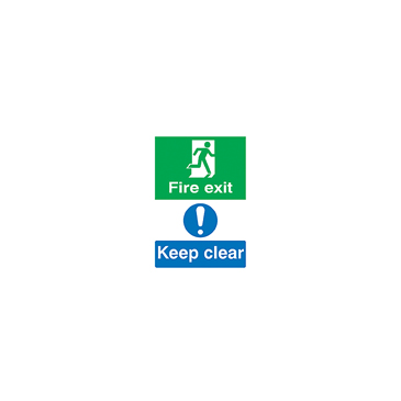 Plastic Fire Safety Sign, Fire Exit Keep Clear With English Text