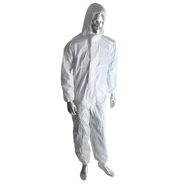 RS PRO White Disposable Coverall, M