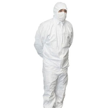 RS PRO White Disposable Coverall, L